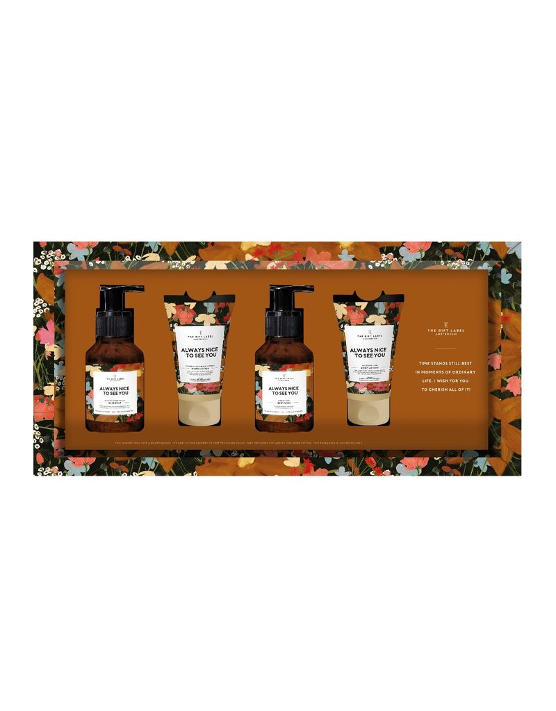 The Gift Label Giftset verzorgingsproducten ' Always nice to see you'