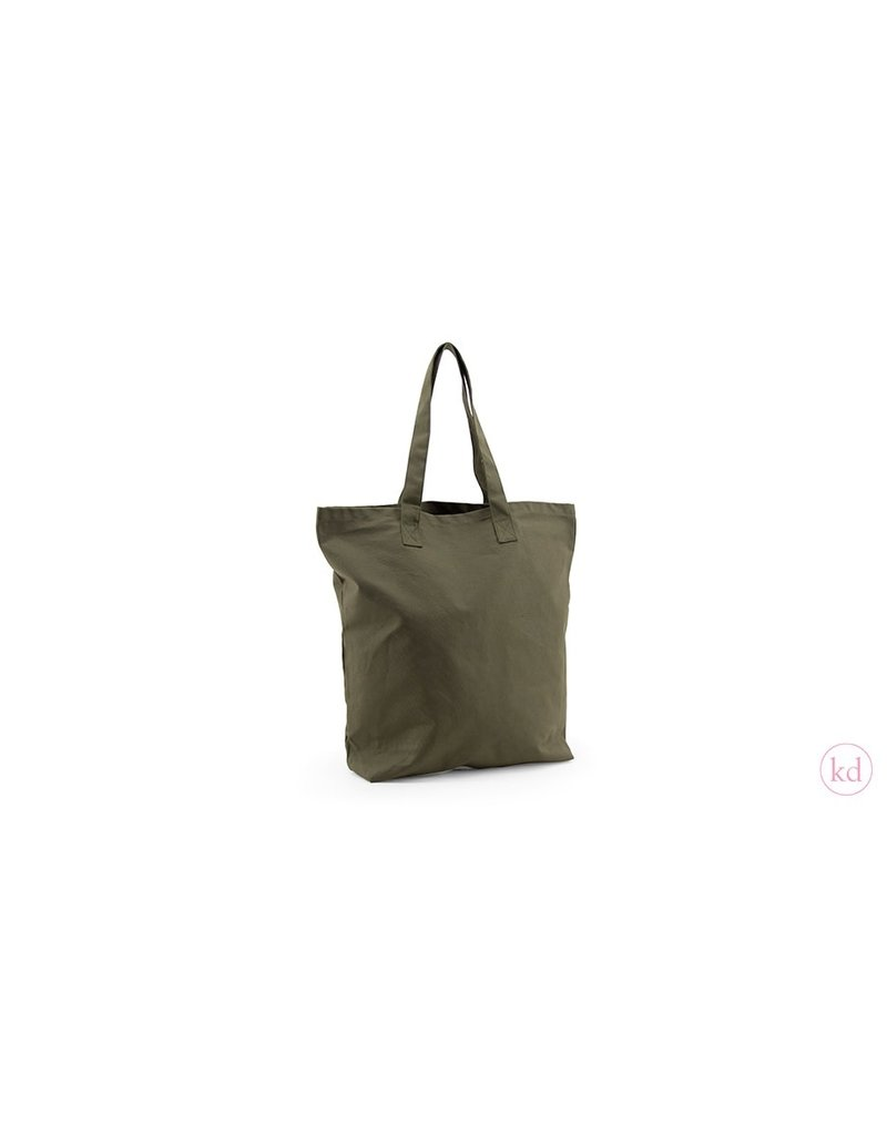 Sticky Lemon Ruime tote bag met blokbodem - rosemary green