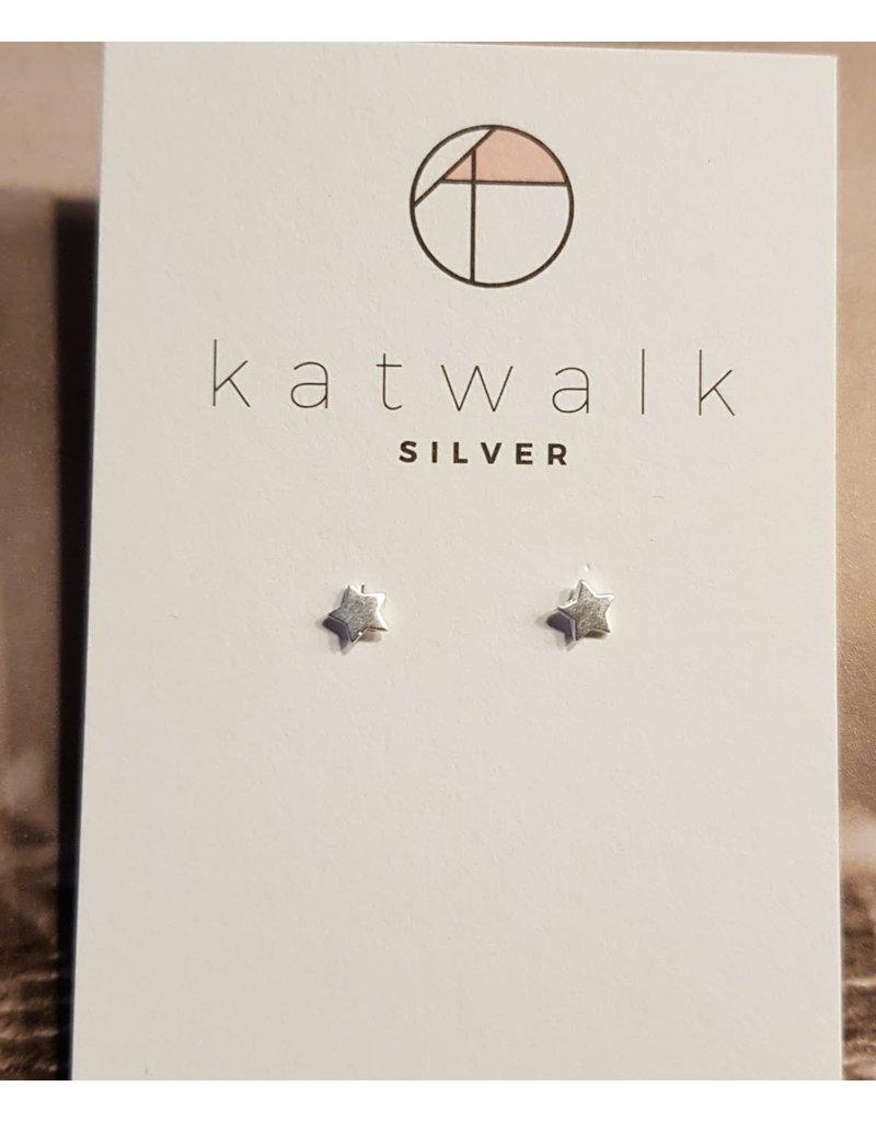 Katwalk Zilver Zilver oorstekers - sterretjes