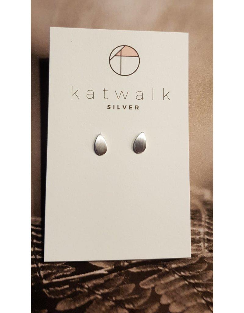 Katwalk Zilver Zilver oorstekers - volle druppel