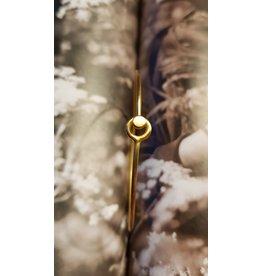 Katwalk Zilver Verguld zilver armband - voorgevormd met knop-sluiting