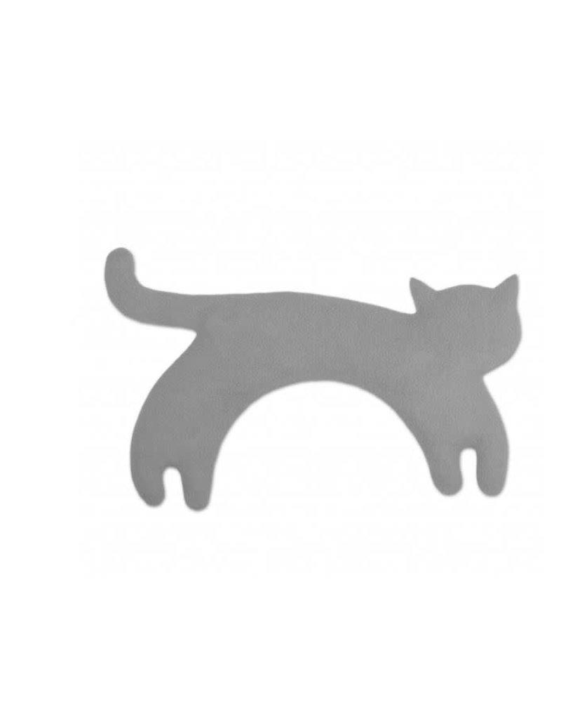 Leschi Verwarmend kussen- Minina cat L - grey