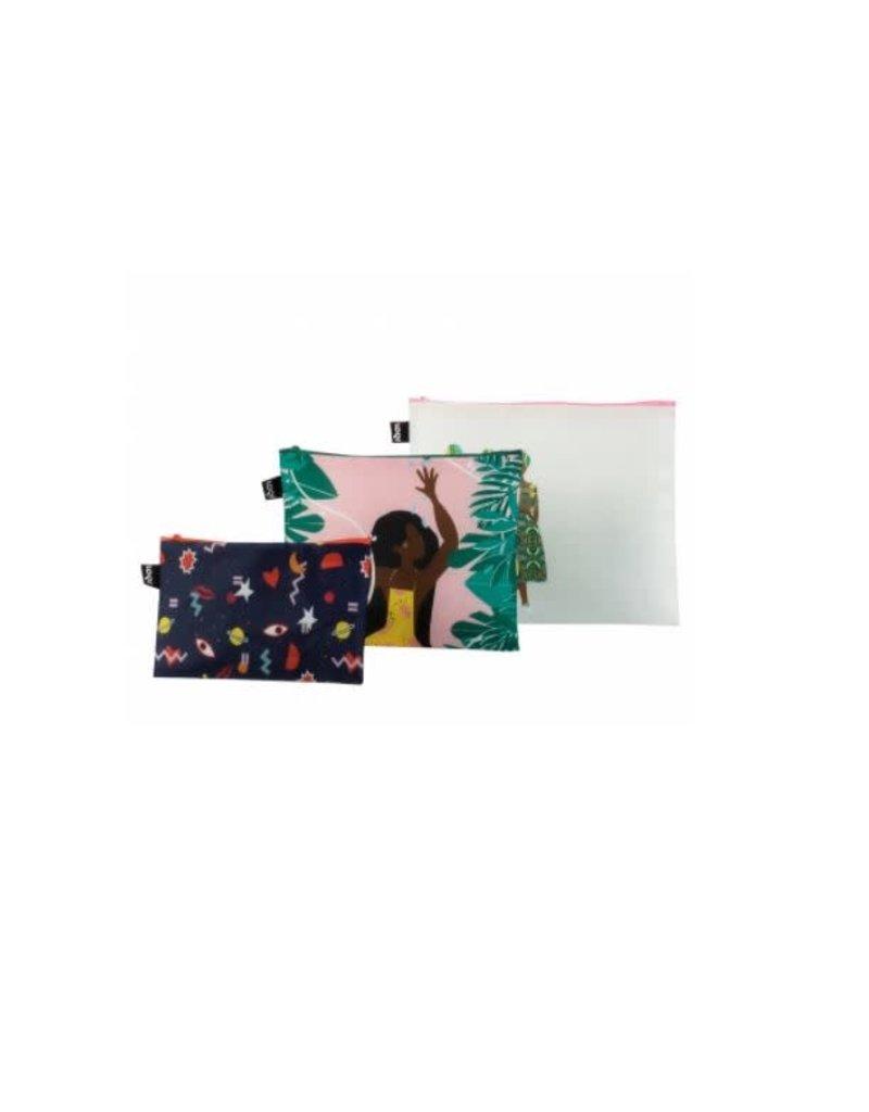Loqi Zip Pockets Celeste Wallaert - set 3 stuks