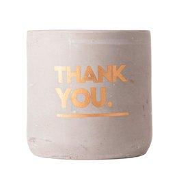 Gusta Kaars Cement ø8x8cm 'Thank You'