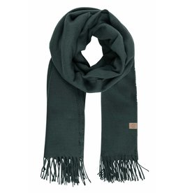 Zusss Basic sjaal met franjes - donkergroen