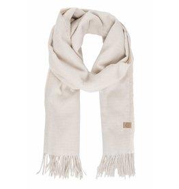 Zusss Basic sjaal met franjes - crème