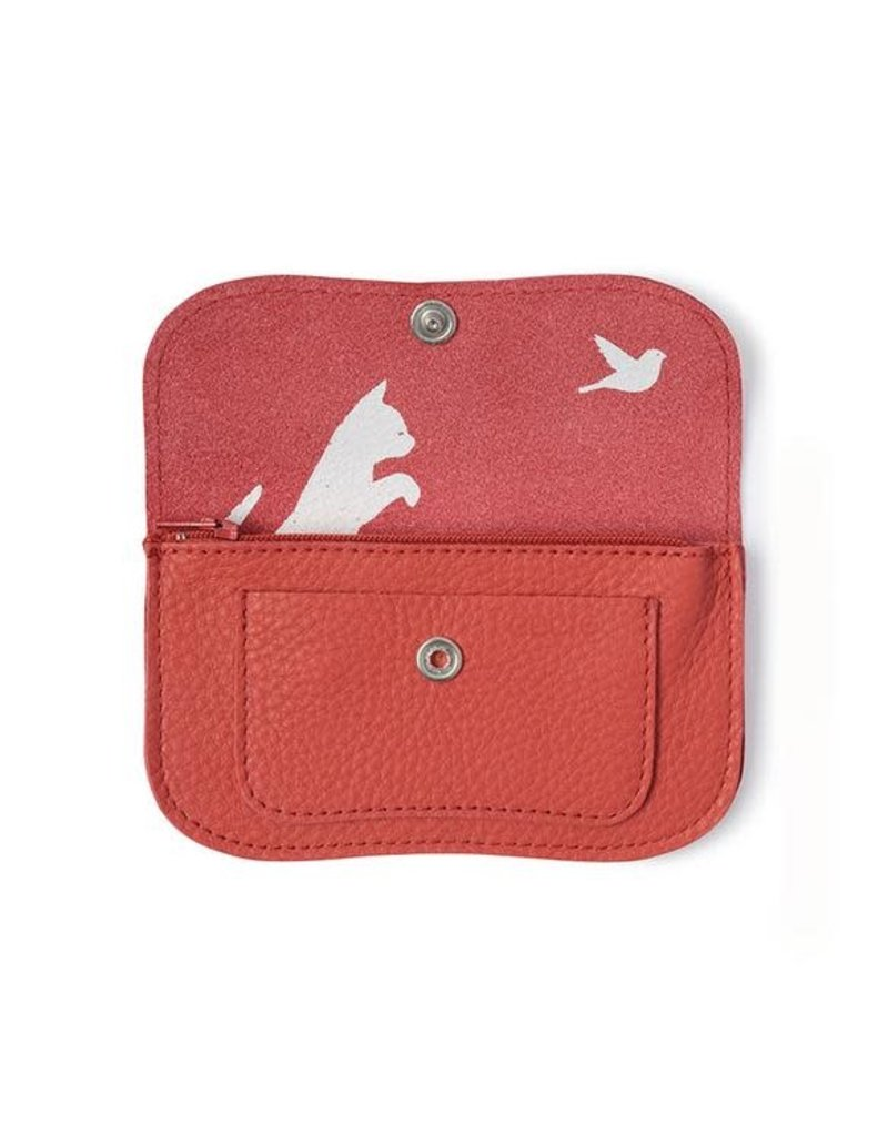 KEECIE Portemonnee, Cat Chase Small, Coral red
