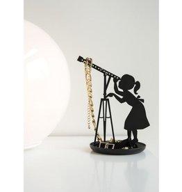 kikkerland Juwelenhouder 'sterrenkijker' - zwart