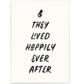 KaartBlanche Kaartje – They lived happily ever after
