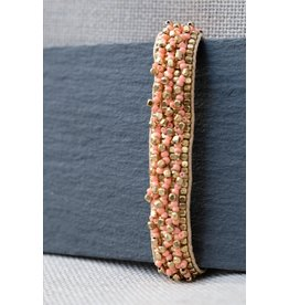 Soetkin Armband - Sinead - goud/zalm