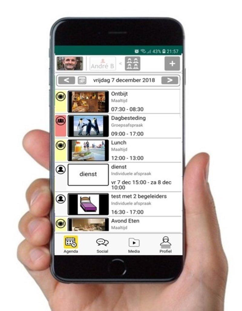 MyWepp Personal Personal app voor prive clienten  (= jaarabonnement en startkosten)!! Als de client behoort tot een woon- of dagbestedingsapp met een abonnement op MyWepp, zijn de kosten van de app inclusief, klik dan opGroepen