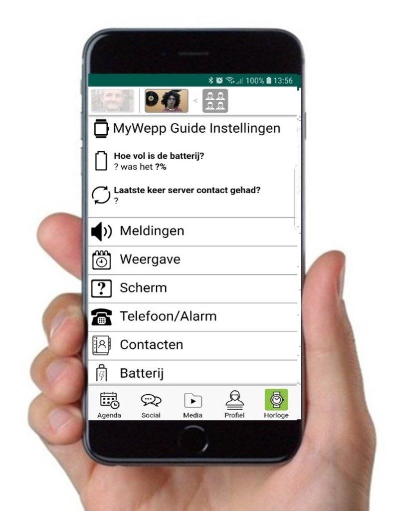 MyWepp Personal Beheer app: gratis beheer app  om  telefoon/tablet of beeldhorloge van een client met MyWepp abonnement te beheren