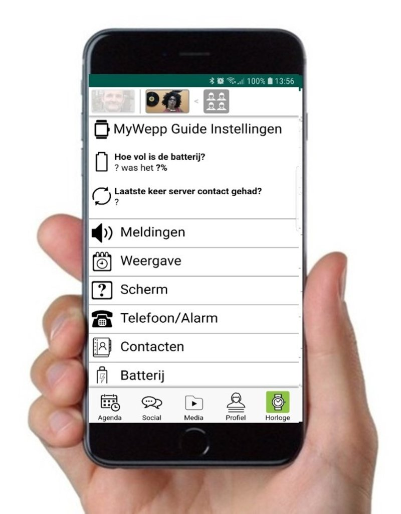 MyWepp Personal Free app to manage the MyWepp Personal app on the tablet/smartphone or pictowatch of a client