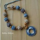 Nitto Miton Stilkette grau-blau