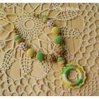 Nitto Miton Stillkette gelb-grün-weiss