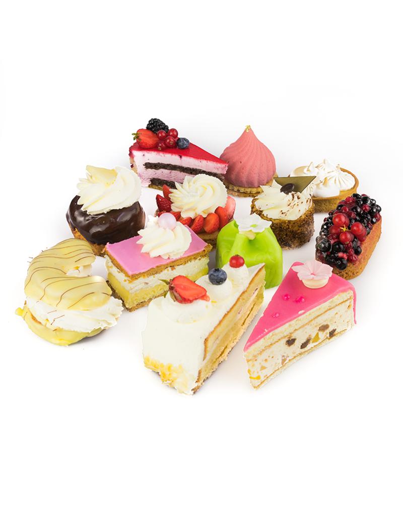 Gesorteerd gebak met de Franse