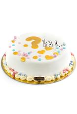 """Gender Reveal taart """"Vraagteken"""""""