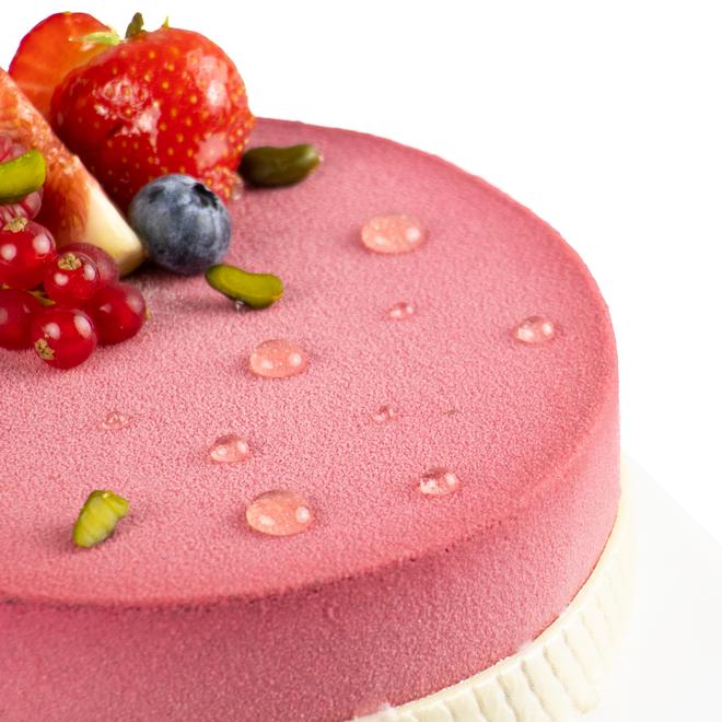 Gâteau aux fruits rouge