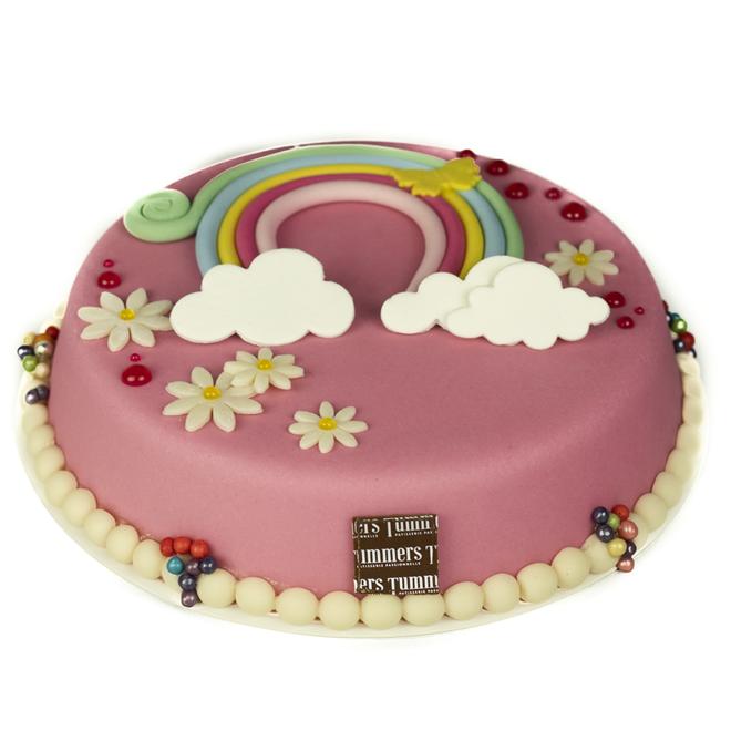 """Verjaardagstaart """"Rainbow"""""""