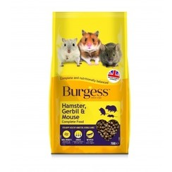 Burgess Hamster, Gerbil And Mouse Complete Food 750g