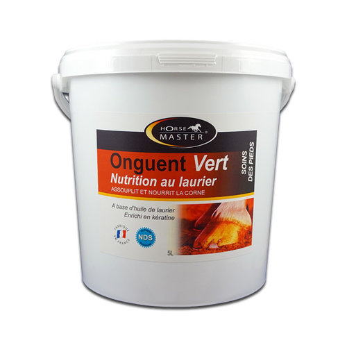 HorseMaster ONGUENT VERT nutrition au laurier - green hoof grease