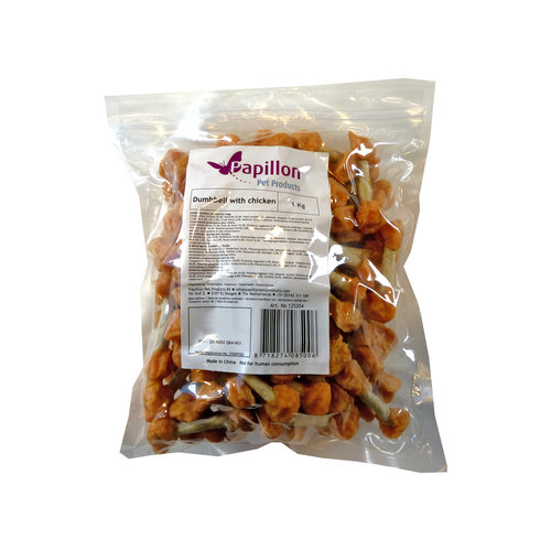 Papillon Dog Snack barbell with chicken 1kg