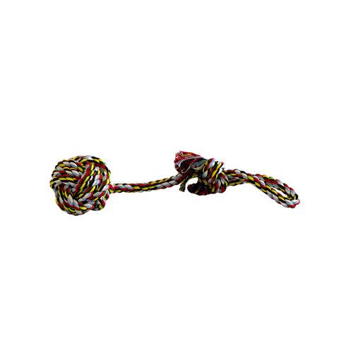Papillon Katoen flossy speelgoedbal met handvat medium 155gr
