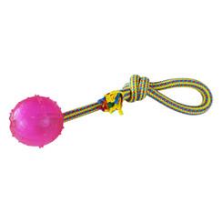 Geweven touw met bal 36cm 200-210gr