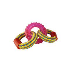 Geweven touwringen met rubberen ring 18cm 90-100gr