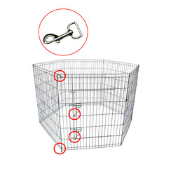 Wire cage Puppy, 8 x (80x100) galvanized