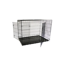 Economic wire cage black XXL, 2 doors