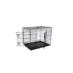 Economic wire cage black L, 2 doors