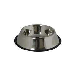 RVS voerbak met rubberen rand  20cm/0,45L met rubberen rand