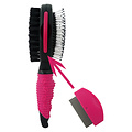 Papillon Two-sided brush and comb