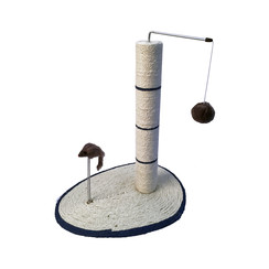 Scratching Post-island with ball and spring 40 x 30 x 46 cm