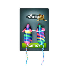 Colored rainbow mouse toys
