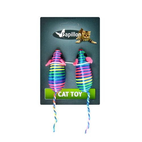 Papillon Gekleurde regenboogmuis speelgoedjes