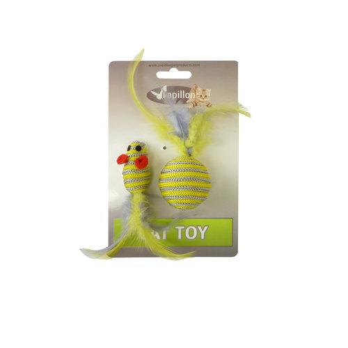 Papillon Zilveren bij speelgoedje