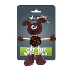 Dog cuddly toy with catnip