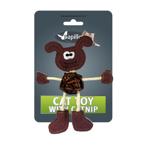 Papillon Dog cuddly toy with catnip