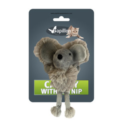 Cuddly toy mouse with catnip