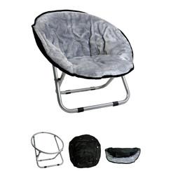 Relaxstoel groot licht grijs