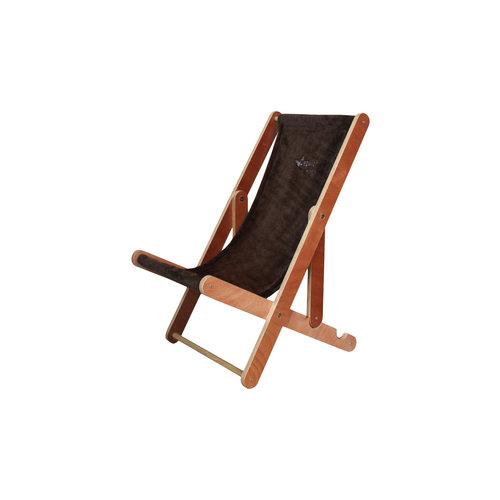 Papillon Huisdier strandstoel bruin