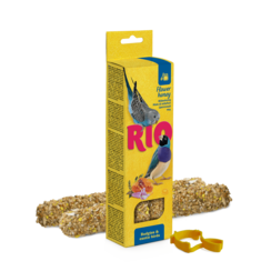 RIO Sticks for budgies and exotic birds with honey, 2x40 g