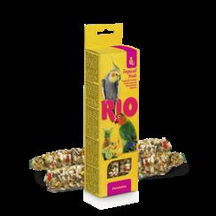 RIO Sticks voor parkieten met tropisch fruit, 2x75 g