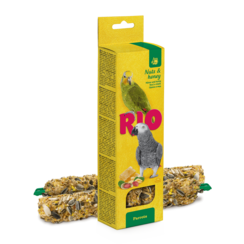 RIO Sticks voor parkieten met honing en noten, 2x90 g
