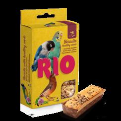 RIO Biscuits met gezonde zaden voor alle soorten vogels, 5x7 g