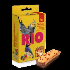 RIO Biscuits met wilde bessen voor alle soorten vogels, 5x7 g