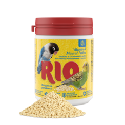 RIO Vitamin and mineral pellets for budgies and parakeets, 120 g