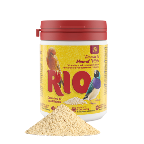 RIO RIO Vitamine & Mineralenkorrels voor kanaries, exotische vogels en andere kleine vogels, 120 g